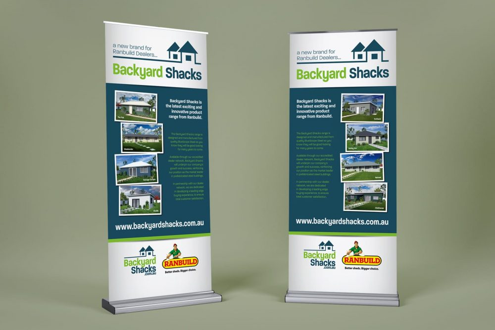 Backyard Shacks banners