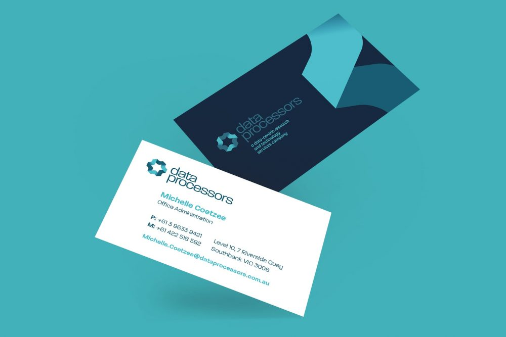 data processors business cards