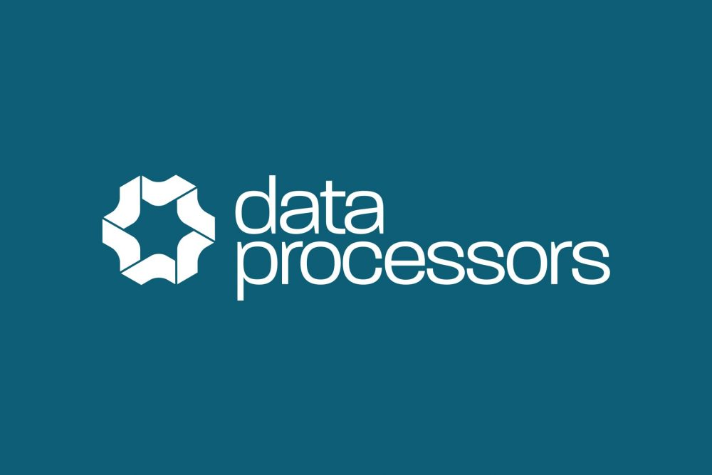 data processors logo reversed